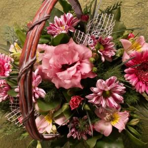 Romantikus virágkosár