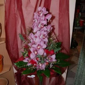 Egy szál orchidea kiegészítőkkel