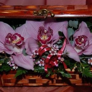 3 Orchideafej dobozkában