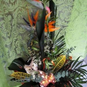 Papagájvirágok csokorba szedve