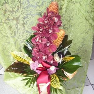 Orchideafürt díszítve