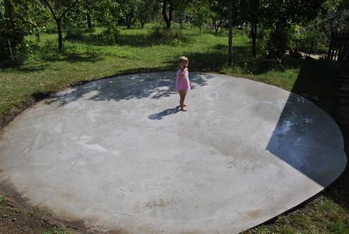 betonozva az alap