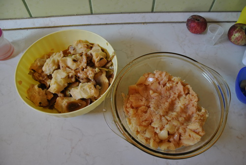 gyümölcshús és a csumák