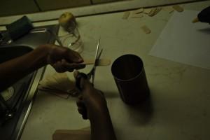 vágjuk le a spatulák végét egyenesre
