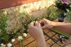 virágok drótozása